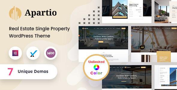 Apartio - Single Property WordPress Theme + RTL