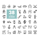 38 Winter vector icons set - GraphicRiver Item for Sale