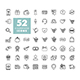 52 E-commerce set vector icons shopping and online - GraphicRiver Item for Sale