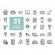 31 Protest, strike, revolution set vector icons - GraphicRiver Item for Sale