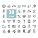 38 Set corona virus vector icons - GraphicRiver Item for Sale