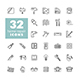 32 Set of building construction and home repair icons - GraphicRiver Item for Sale