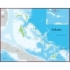 The Bahamas Map Was Drawn with High Detail and - GraphicRiver Item for Sale