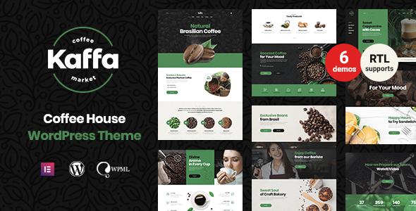Kaffa - Cafe & Coffee Shop WordPress Theme + RTL