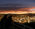 Friends Observing Wellington City From Mount Victoria at Sunset - PhotoDune Item for Sale