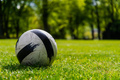 Soccer Ball on Green Grass Playground - PhotoDune Item for Sale