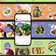 Healthy Food Carousel Instagram Post Template - GraphicRiver Item for Sale