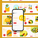Fresh Food Ads Instagram Carousel Template - GraphicRiver Item for Sale