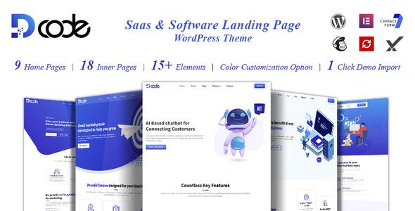 DCode – SaaS Landing Page WordPress Theme