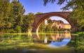 Ponte della Concordia, Roman bridge and river Metauro. Fossombrone, Marche, Italy. - PhotoDune Item for Sale