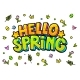 Hello Spring Word Bubble - GraphicRiver Item for Sale