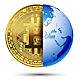 Abstract Bitcoin Planet Earth - GraphicRiver Item for Sale