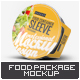 Food Container Sleeve Packaging Mock-Up v.1 - GraphicRiver Item for Sale