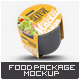 Food Container Sleeve Packaging Mock-Up v.2 - GraphicRiver Item for Sale