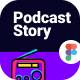 RadioStory   A Podcast Mobile App Figma Template - ThemeForest Item for Sale