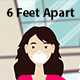 Covid-19 6 Feet Apart - VideoHive Item for Sale