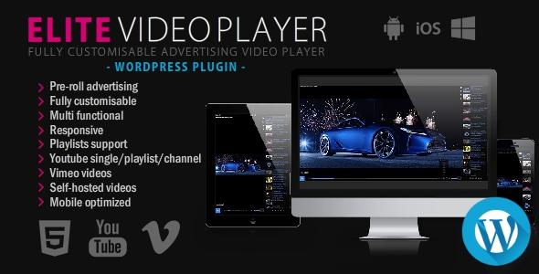 Elite Video Player – WordPress plugin, Gobase64