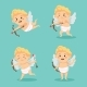 Cute Cupid Character Set Isolated - GraphicRiver Item for Sale