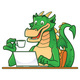 Dragon on Laptop - GraphicRiver Item for Sale