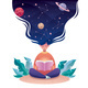 Thinking of Astrology - GraphicRiver Item for Sale