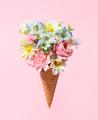 Floral ice cream cone - PhotoDune Item for Sale
