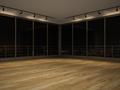 Interior empty room night view 3 D rendering - PhotoDune Item for Sale