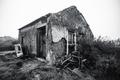 An abandoned stone house, wasteland - PhotoDune Item for Sale