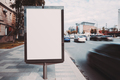An advertising placard on the street - PhotoDune Item for Sale