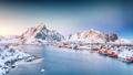 Fantastic evening panorama of Reine town. - PhotoDune Item for Sale