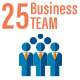 25 Business Teamwork Flat Icon Set - GraphicRiver Item for Sale