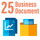 25 Business and Document Flat Icons - GraphicRiver Item for Sale