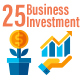 25 Business and Investment Flat Icons - GraphicRiver Item for Sale