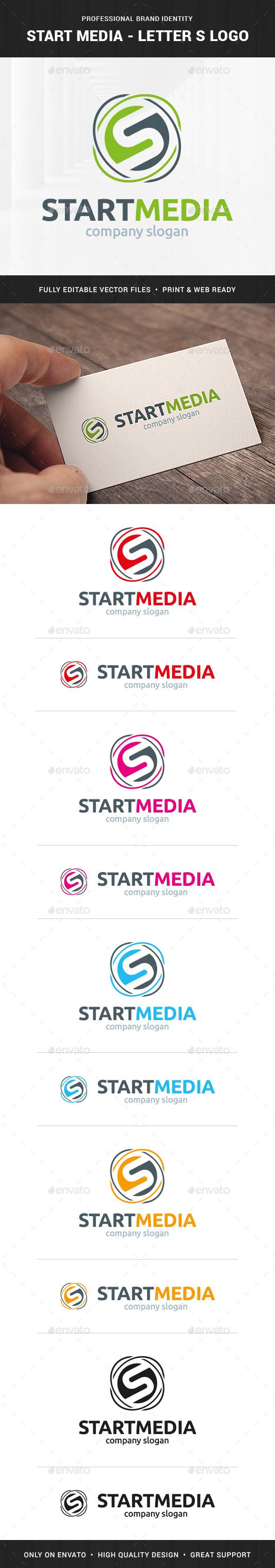 Start Media - Letter S Logo