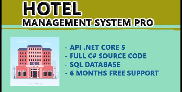 Hotel Management system PRO    API .NET CORE 5