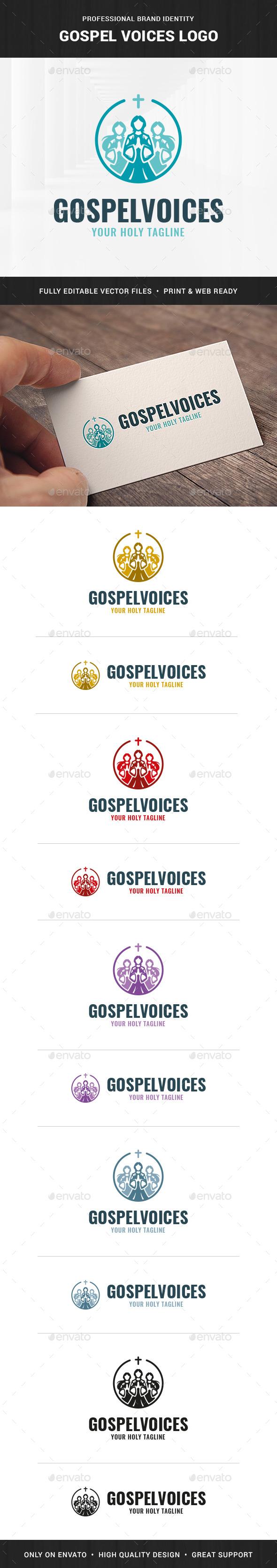 Gospel Voices Logo Template