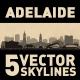 Adelaide Australia city Skyline set - GraphicRiver Item for Sale