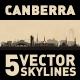 Canberra Australia city Skyline set - GraphicRiver Item for Sale