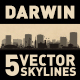 Darwin Australia city Skyline set - GraphicRiver Item for Sale