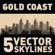 Gold Coast Australia city Skyline set - GraphicRiver Item for Sale