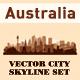 Skyline City Set. 10 Cities of Australia - GraphicRiver Item for Sale