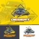 Offroad Car Logo in Three Versions on a Yellow - GraphicRiver Item for Sale