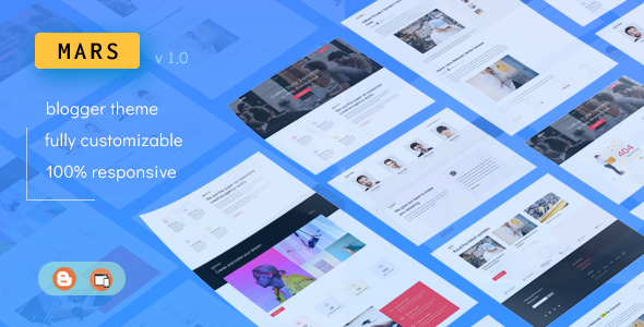 Mars - Multipurpose Portfolio Blogger Theme