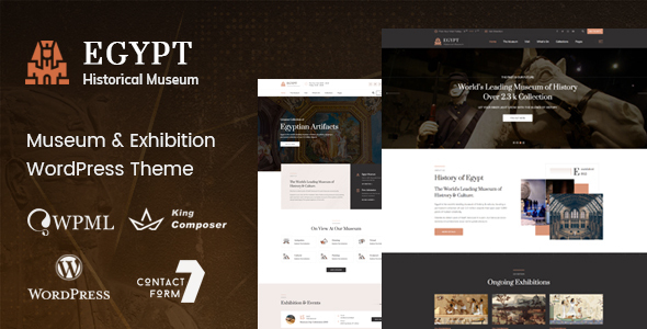 Egypt - Museum & Exhibition WordPress Theme