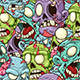 Zombie Seamless Pattern - GraphicRiver Item for Sale