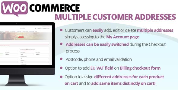 WooCommerce Multiple Customer Addresses, Gobase64