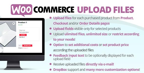 WooCommerce Upload Files, Gobase64