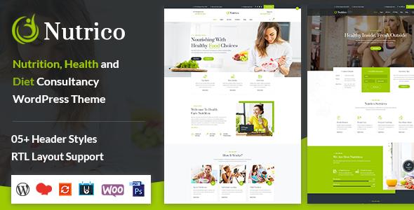 Nutrico - Nutrition Health Services WordPress Theme