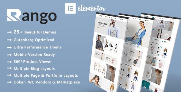Rango | Elegant Fashion WooCommerce WordPress Theme