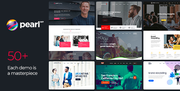 Pearl – Corporate Business WordPress Theme, Gobase64