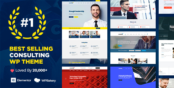 Consulting – Business, Finance WordPress Theme, Gobase64
